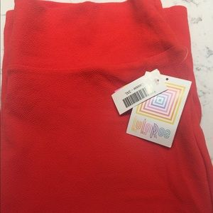LuLaRoe Solid Red Cassie NEW with TAGS 3X